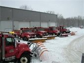 Snow Plowing in the Village