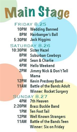 2017 Street Fest Lineup