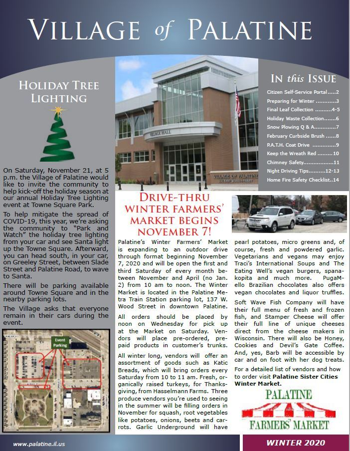 VoP 2020 Winter Newsletter Cover