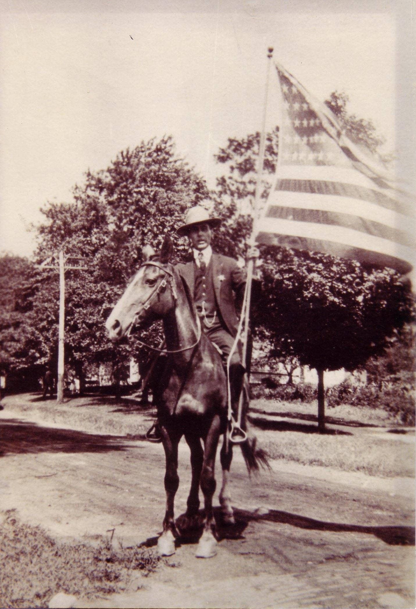 Police Chief on a Horse in 1916